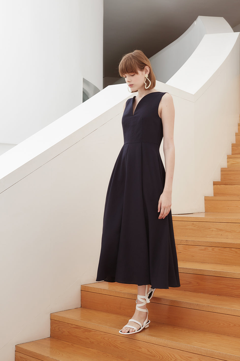 MADELEINE DRESS NAVY