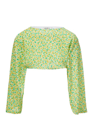 LEILANI SEQUINNED TOP LIME