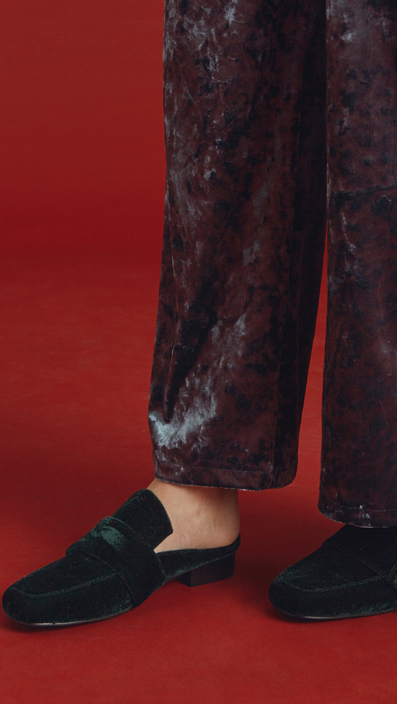 Colet Velvet Backless Loafer