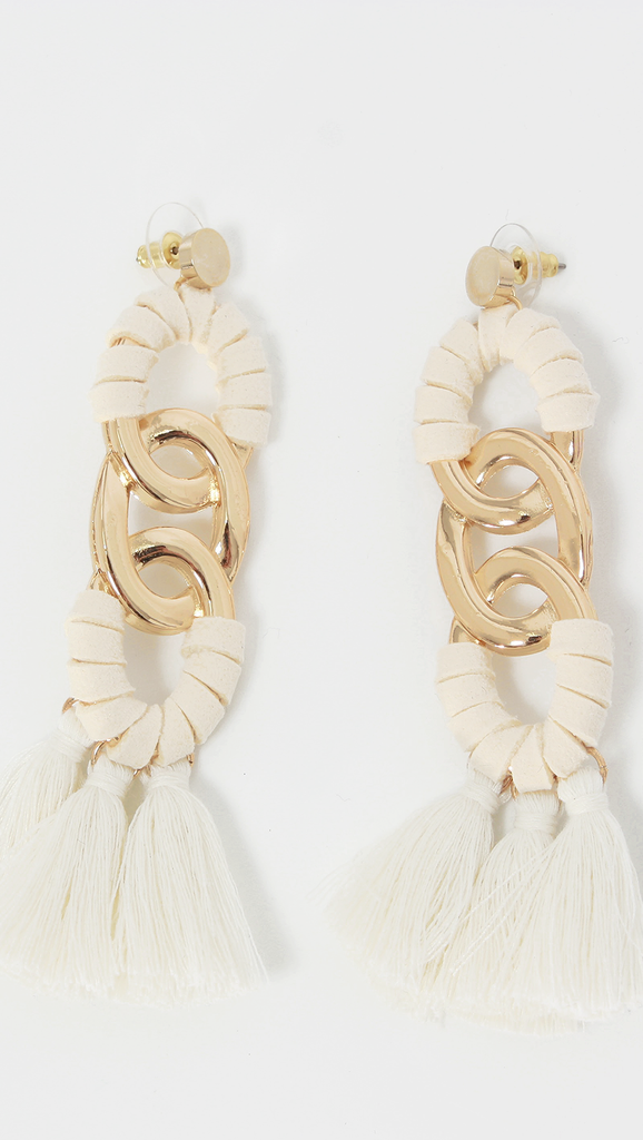 African mood lizzie fringe tassel earrings
