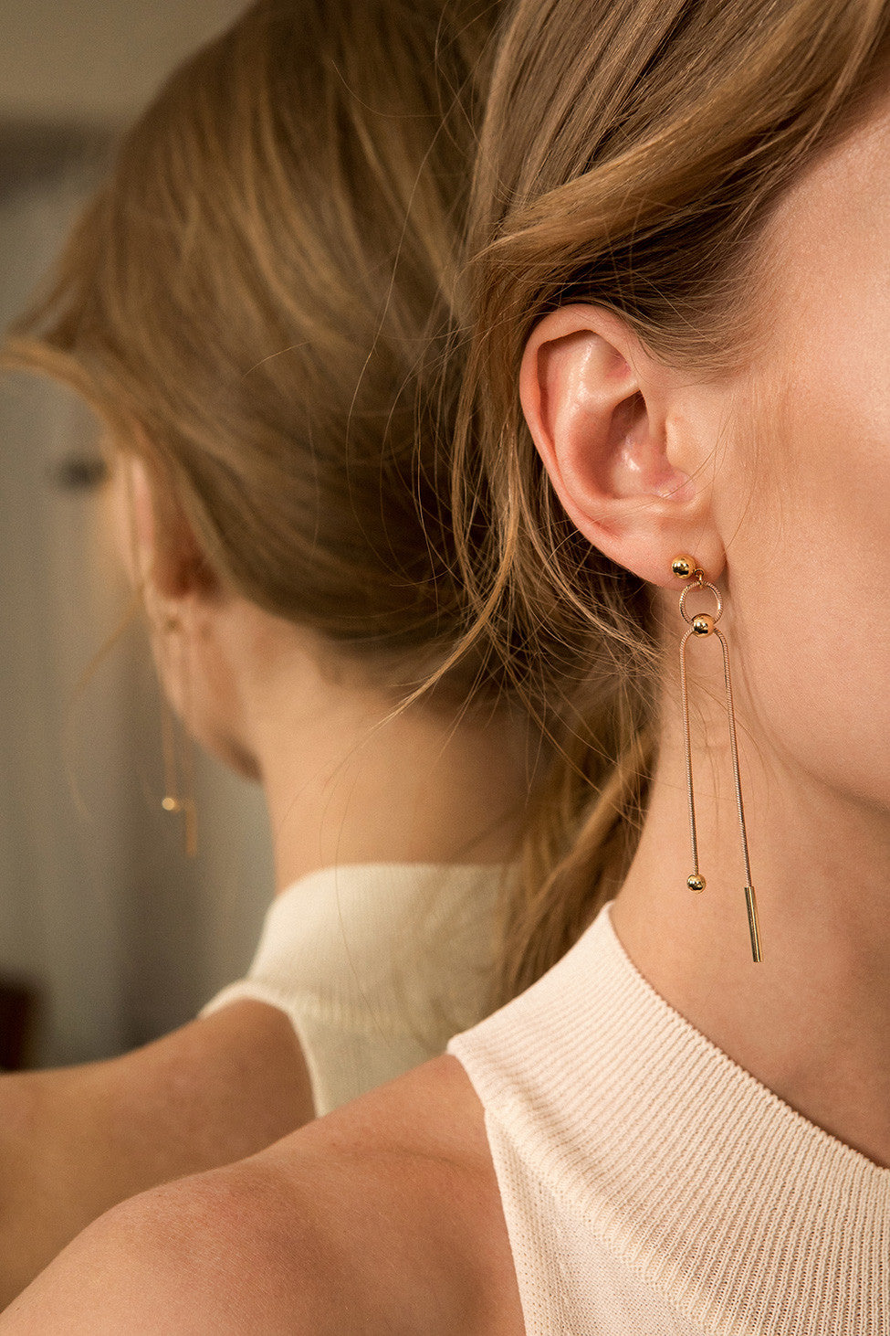 The Chrissie, a pair of drop earring. Post back. Sold as a set.