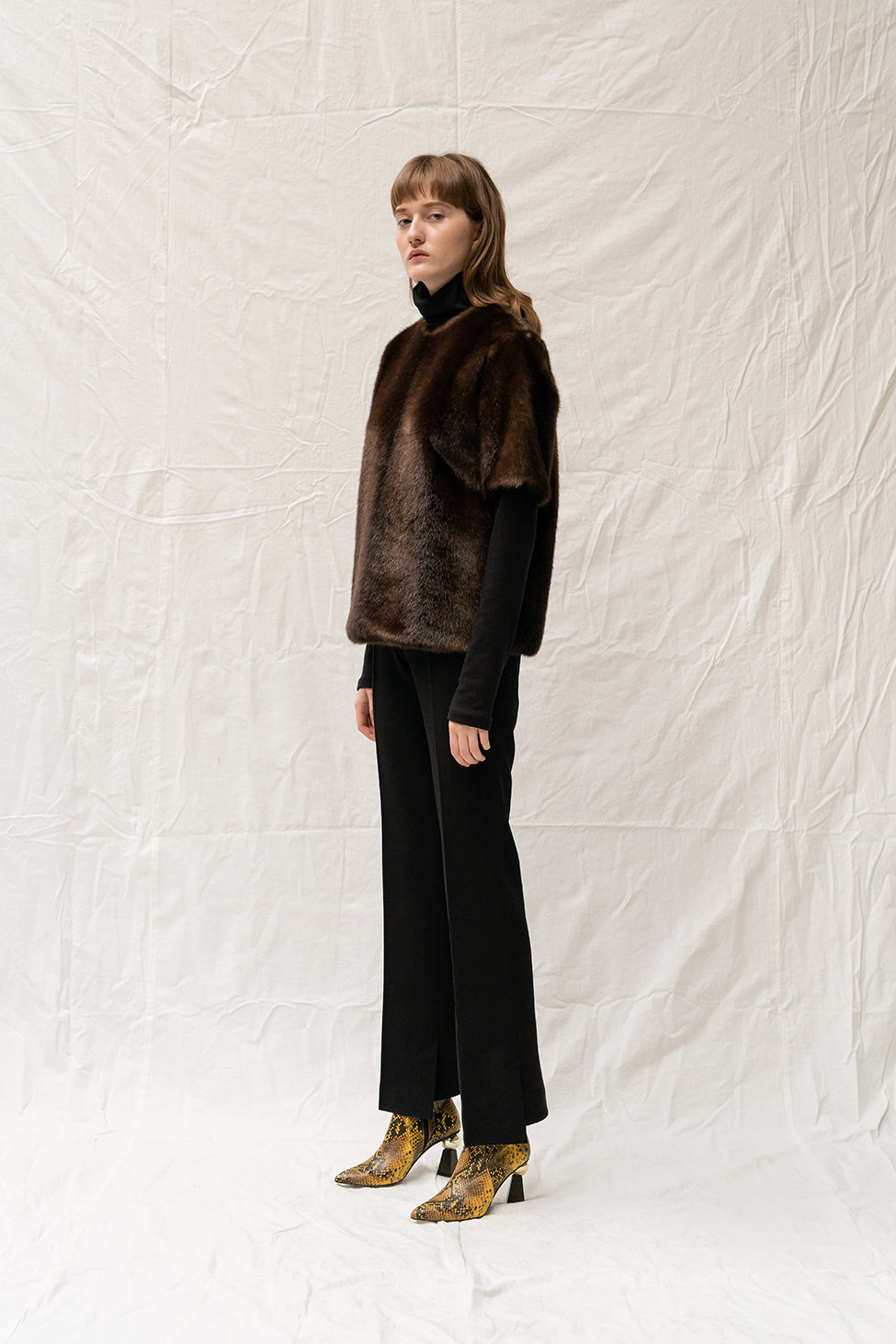 Chesnais Faux Fur Top