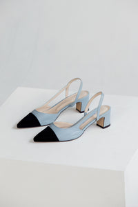 Two Tone Slingback Pumps