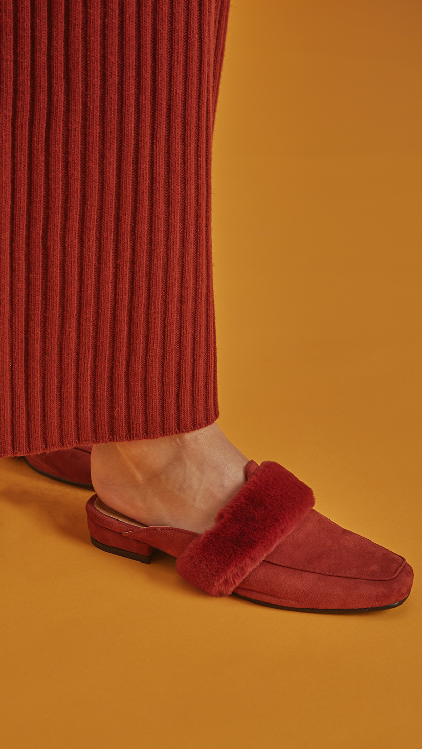 Villa Backless Furry Loafer