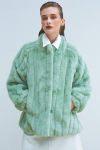SUZANI ECO MINK FUR JACKET MINT