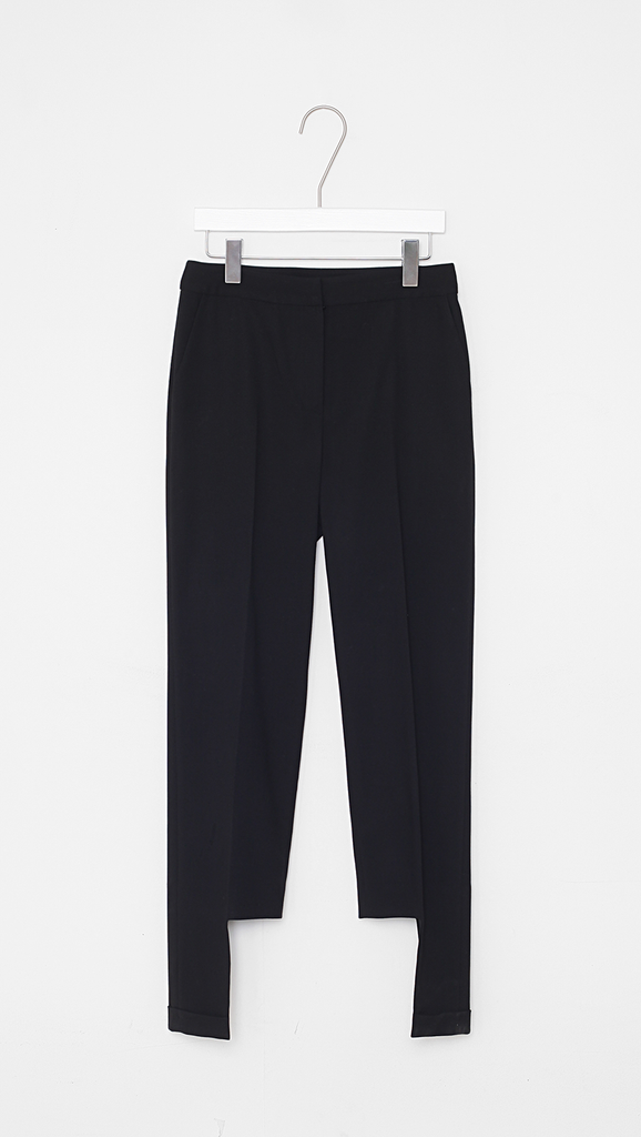 Luna Unbalance Hem Trousers in Black.