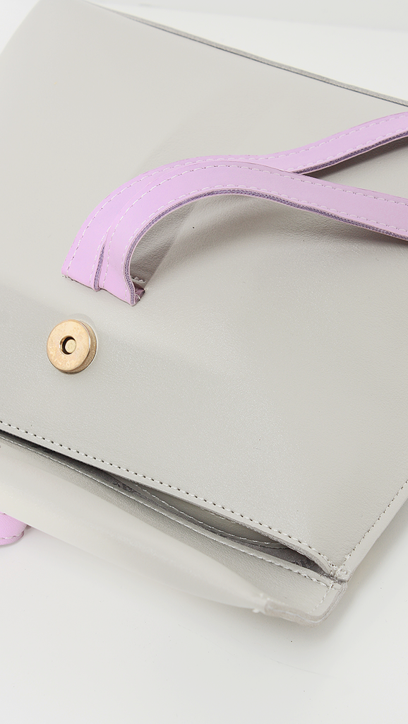 Melgar Cluth, a lightweight smooth pu leather with minimal styling in Grey