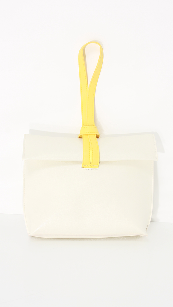 Melgar Cluth, a lightweight smooth pu leather with minimal styling in Yellow