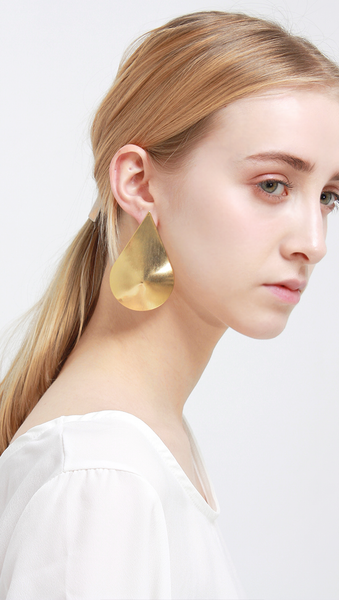 Apia Petal Gold Earrings.