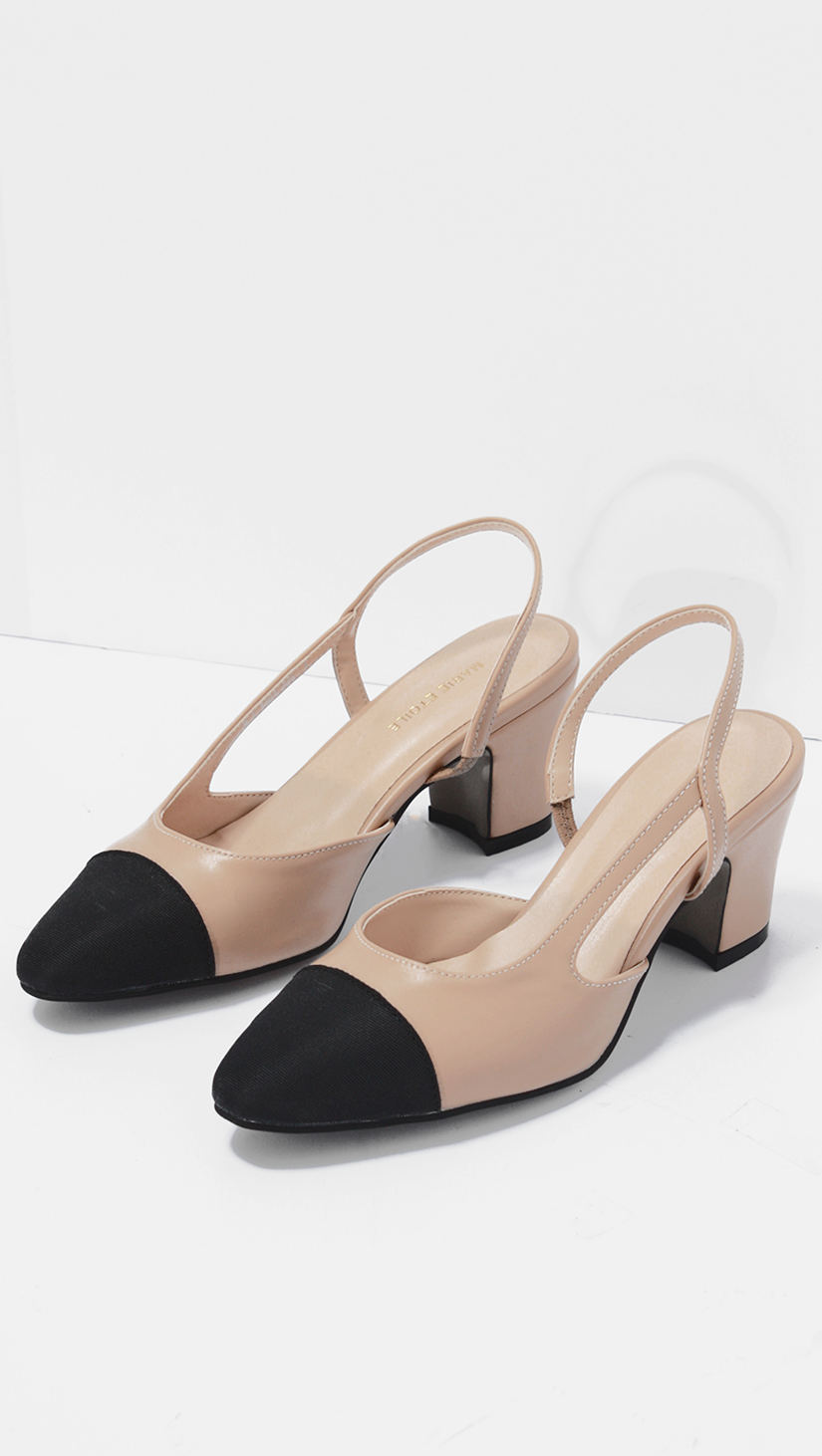 two-tone sling back pumps Cheap Sale Official Site t8tTCsy