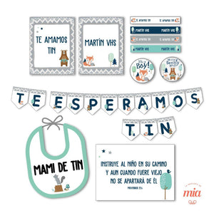 Kit deco de Baby shower virtual