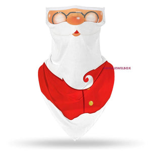Christmas Neck Scarf Breathable Face Mask