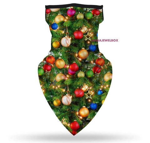 Image of Christmas Neck Scarf Breathable Face Mask
