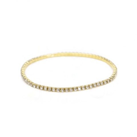 Image of Gold Crystal Stretch Anklet - AnnaJewelBox