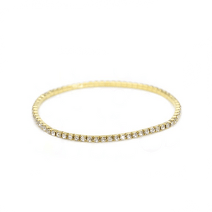 Gold Crystal Stretchable Anklet - AnnaJewelBox