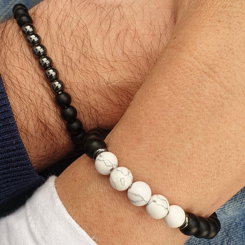 Image of His and Hers Matching Couple's Bracelet Set - AnnaJewelBox
