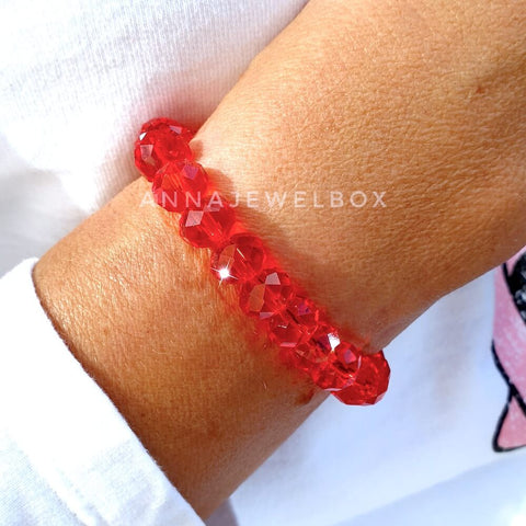 Love Red Crystal Bracelet - AnnaJewelBox