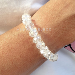 Light White Crystal Bracelet - AnnaJewelBox