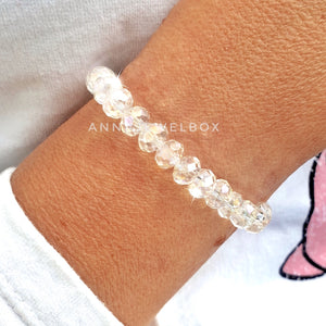 Purity White Crystal Bracelet - AnnaJewelBox