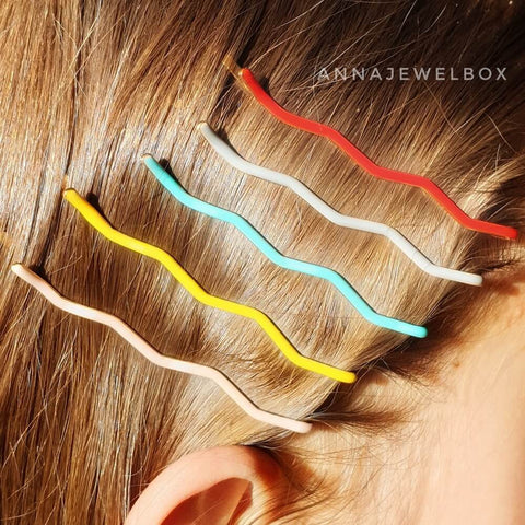 Colourful Hair Clip Barrette Set - AnnaJewelBox