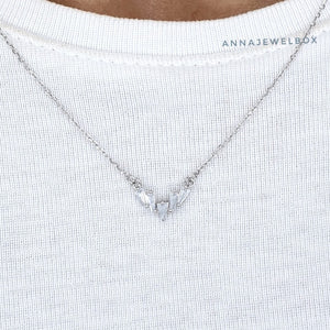 Crystal Shard 925 Sterling Silver Necklace - AnnaJewelBox