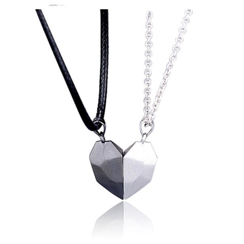 Couple Magnetic Heart Necklace - AnnaJewelBox