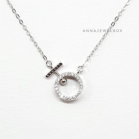 Venus 925 Sterling Silver Swarovski Crystal Adorned Necklace - AnnaJewelBox