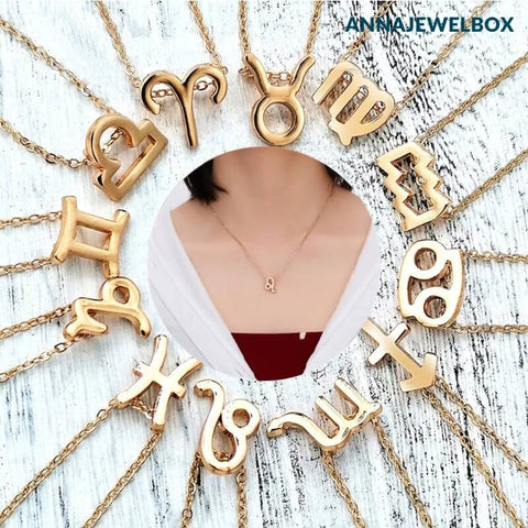 Image of Zodiac Horoscope Star Sign Necklace - AnnaJewelBox
