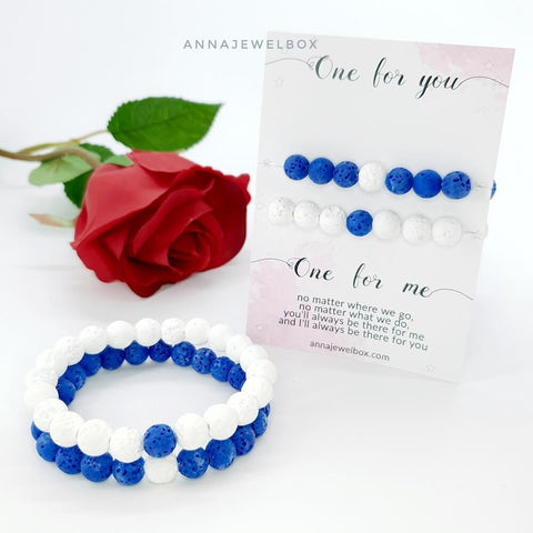 Image of Bright Matching Couple Bracelets Set - AnnaJewelBox