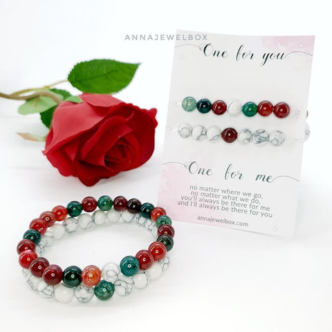 Bright Matching Couple Bracelets Set - AnnaJewelBox