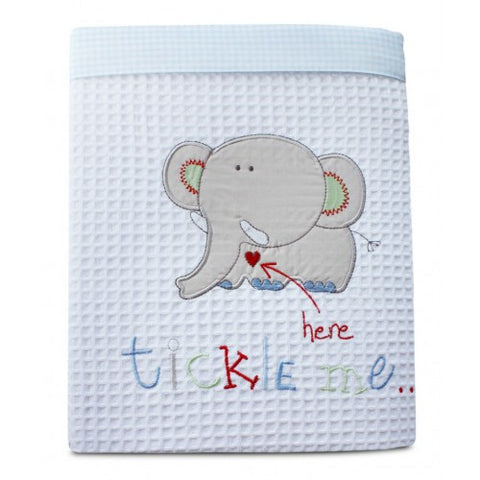 Boy - Tickle Me Cot Cotton Waffle Blanket