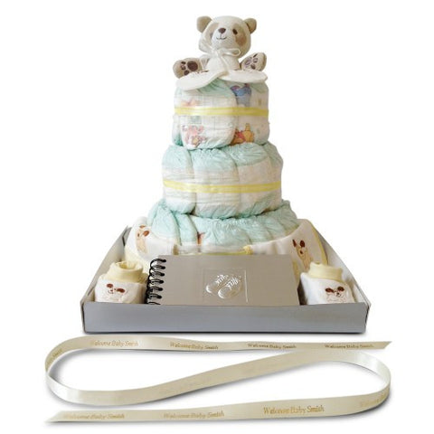 Baby Shower Nappy Cake - Three Tier Nappy Wonder