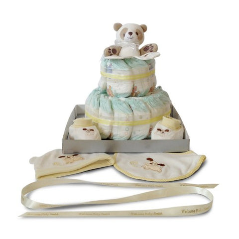 Baby Shower Nappy Cake - Two Tier Bonanza