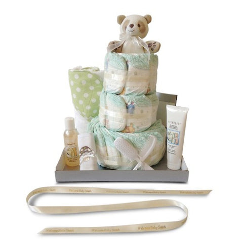 Baby Shower Nappy Cake - Three Tier Bathtime
