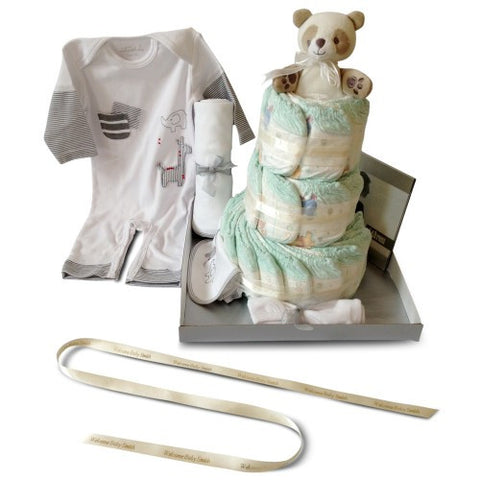 Baby Shower Nappy Cake - Three Tier Deluxe