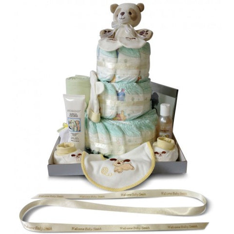 Baby Shower Nappy Cake - Three Tier Super Luxury