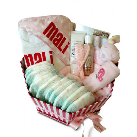 Bathtime Girl Baby Basket