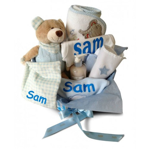 Deluxe BOY Baby Basket (With Surprise For Mum!)