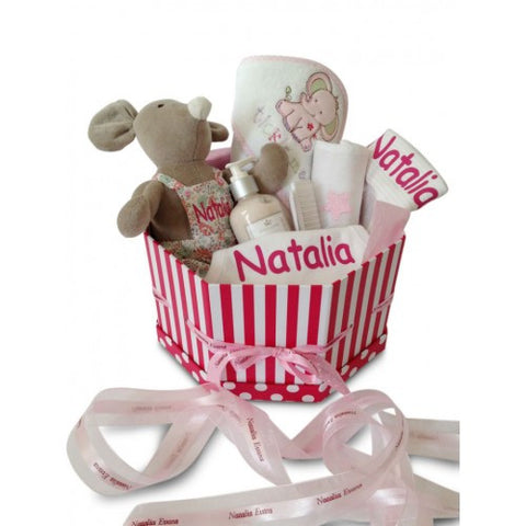 Deluxe GIRL Baby Basket (With Surprise for Mum!)