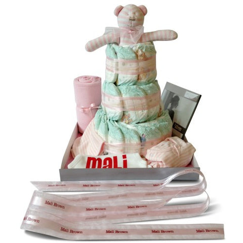 Deluxe Three Tier Girl Nappy Cake