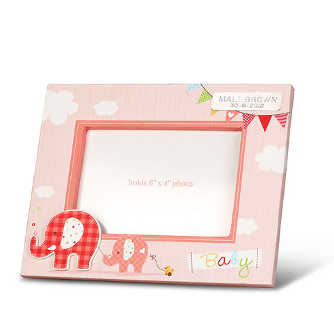 Happy Elephant Girl Photo Frame