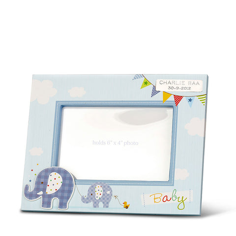 Happy Elephant Boy Photo Frame