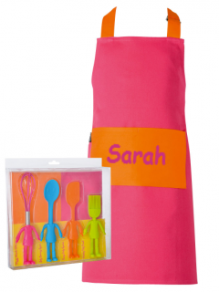 Personalised Little Helpers Child Apron & Utensils Set