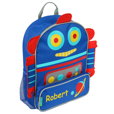 All Systems Go Robot Personalised Backpack