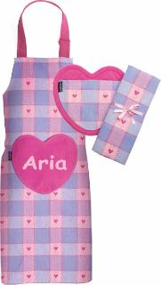 Named Sweet Hearts Child Apron Set