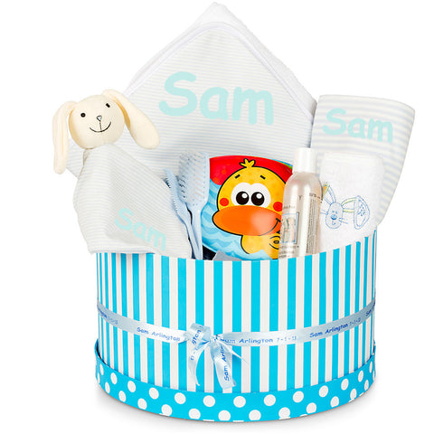 NEW Bathtime Boy Baby Basket