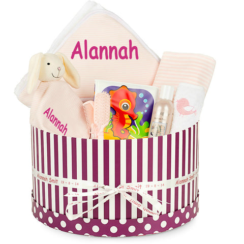 NEW Bathtime Girl Baby Basket
