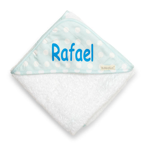 Polka Dots Hooded Towel - Sky Blue