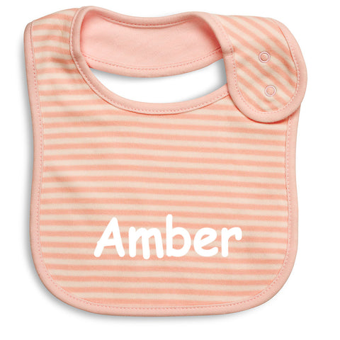 French Stripe Baby Bibs - Pink - Pack Of 2