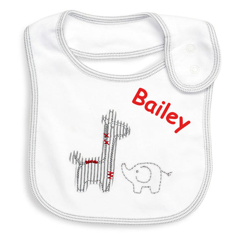 Safari Baby Bibs - Pack Of 2